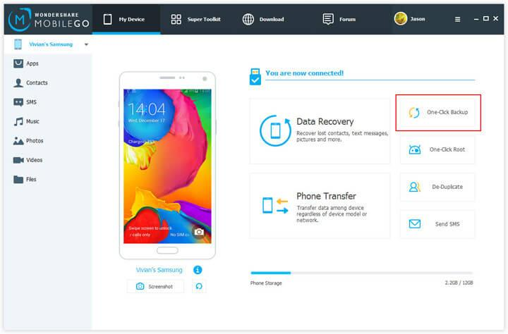 creare backup android