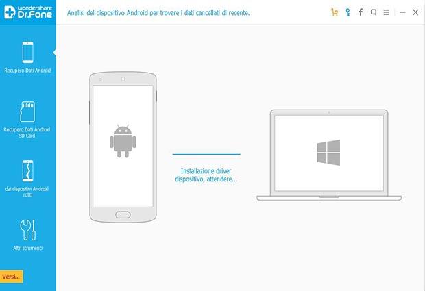 recuperare sms cancellati android