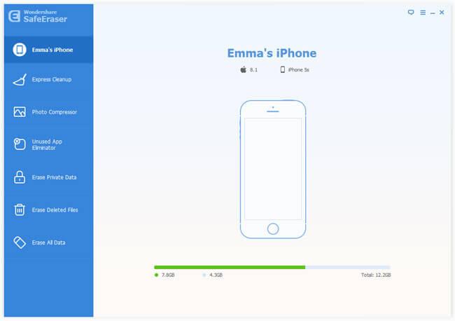 erase iphone data with Wondershare SafeEraser